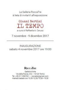 """RoccaTre di Torino, mostra personale """"Gianni Bertini. Il Tempo"""""""